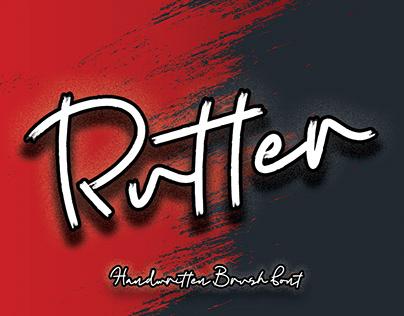 Rutter || Handwriting Brush Font