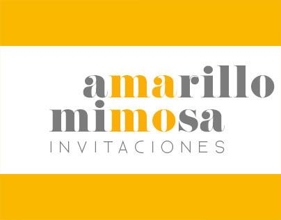 Amarillo Mimosa Invitaciones