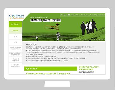 SOVALDI responsive website