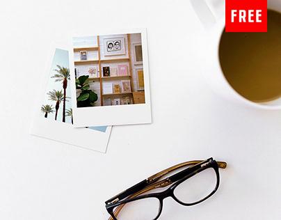 (Free) Vintage Polaroid PSD Mockups