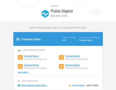 CRM Activity Digest Email Design