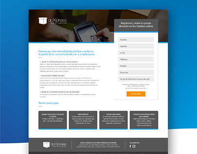 One Page design ACXpress