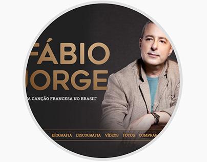 Site do cantor Fábio Jorge