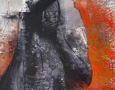"""Thinker""/""Mõtleja"", 80x120 cm, acrylic painting, 2019"
