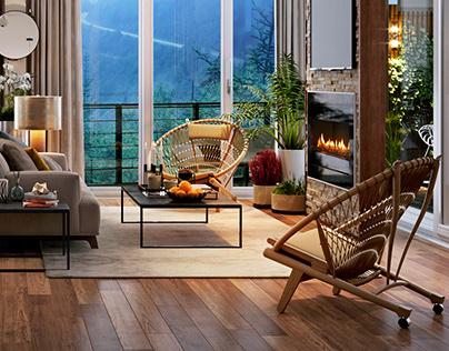 "Penthouse ""Living Room"" - Shimla Hills"