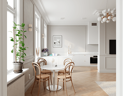 Elegant modern apartment in Stockholm