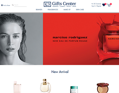 Gifts center website design
