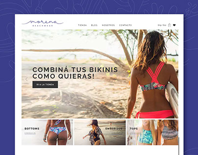 Web Tienda & Branding - Morena Beachwear