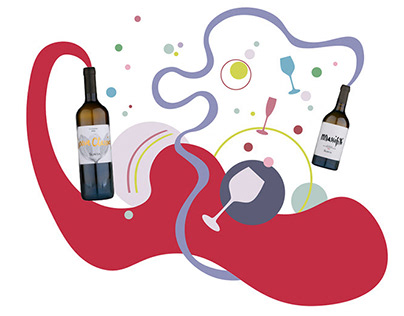 Illustrations for Wine Bureau