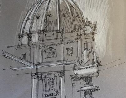 Schizzo in piazza San Pietro Roma