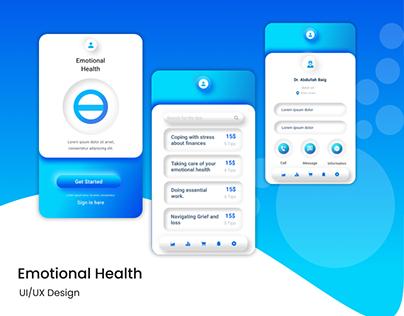Emotional Health Care UI/UX Design