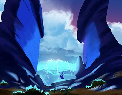 The Enchanter's Revenge, Digital Painting Photoshop