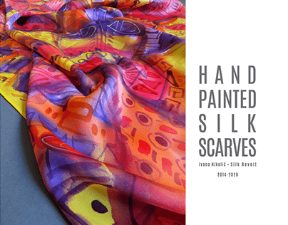 Hand painted silk scarves 2014-2020 part #2