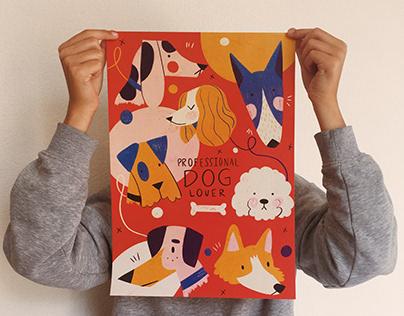 Animal lover print