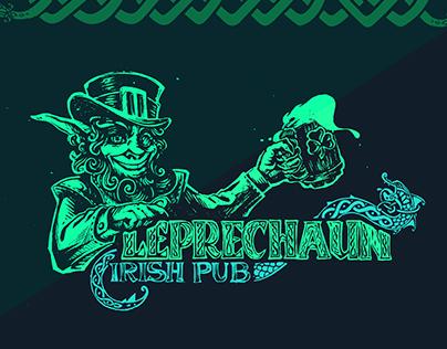 "Сorporate identity Irish pub ""Leprechaun"""