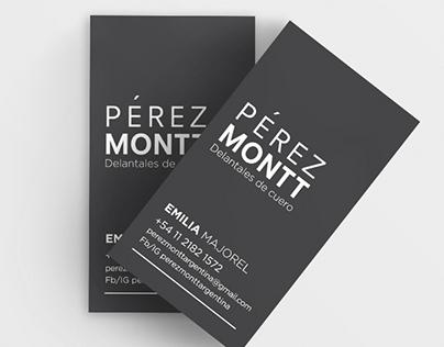 Pérez Montt / TARJETAS PERSONALES