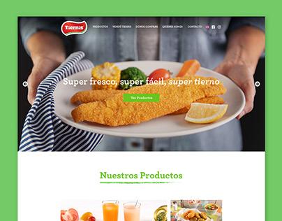 Tiernis Productos Congelados - Website