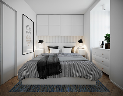 Project of interior design bedroom