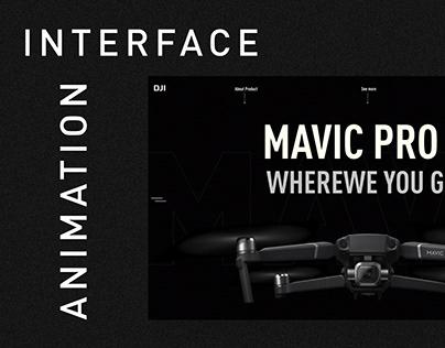 DJI Mavic - interface animation