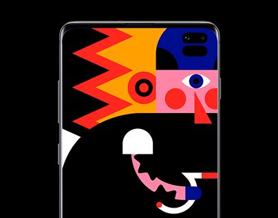Samsung Galaxy Wallpaper Campaign