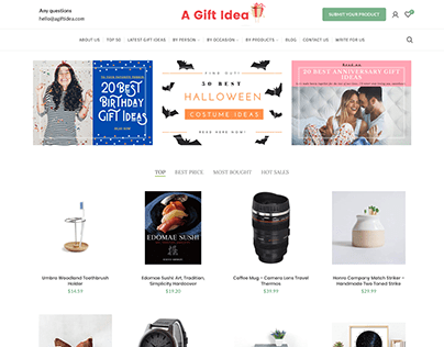 Agiftidea.com - Find Unique and Cool Gifts for Everyone