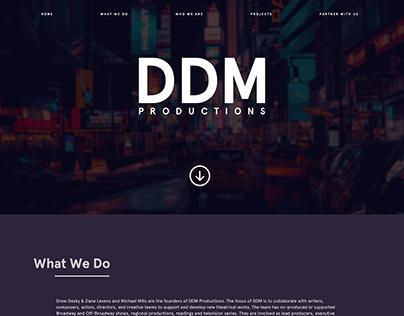 DDM Productions site design