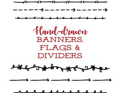 Hand-drawn Banners, Flags and Dividers Kit