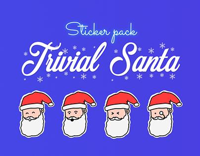 Sticker Pack «TRIVIAL SANTA» for Telegram