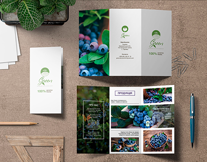 "Booklet design for ""Green"" company"