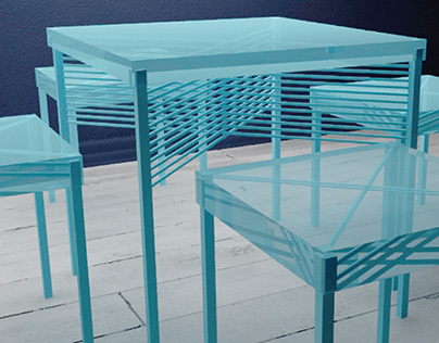 BABY BLUE dining set