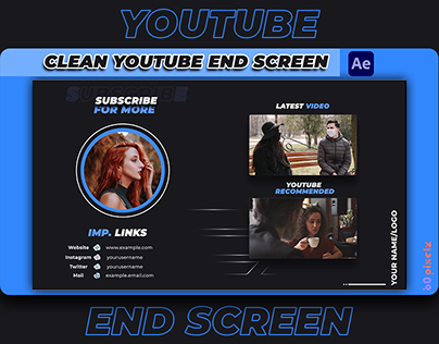 Clean YouTube End Screen