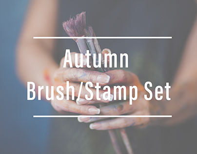 Autumn Brush/Stamp Set
