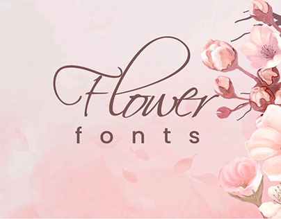 20+ Beautiful Flower Fonts for Your Floral Design