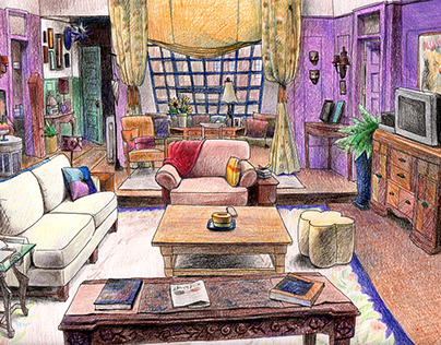 "Study on ""Friends (TV Series)"" Set"