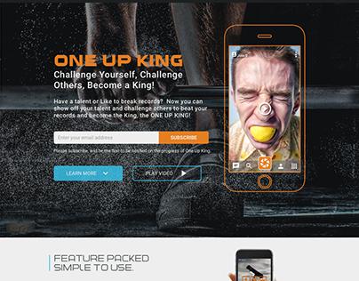 ONEUPKING.COM Landing Page