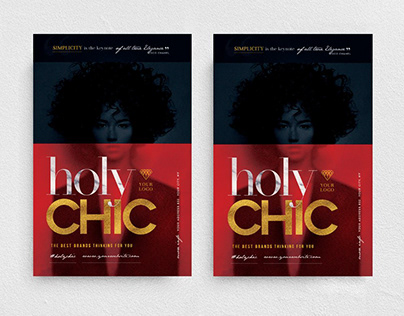 Holy Chic Flyer Template