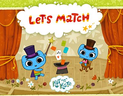 """Kit^n^Kate """"Let's Match"""" game"""