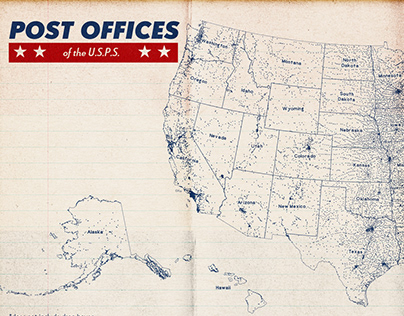 Post Office Maps of the United States