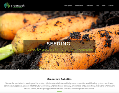 Greentech Robotics Website Design