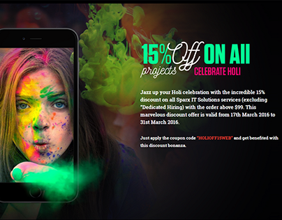 15% Festive Holi Discount On All Services