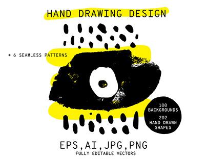 Hand drawn design 300+