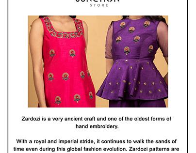 Zardozi Hand Embroidery.