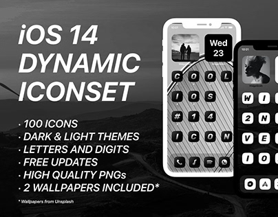 iOS 14 Skin 100 Icons + 2 Styles