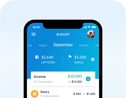 Budget Mobile App - Visual Design