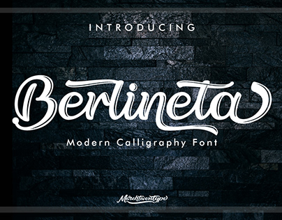Berlineta: Handwritten Font