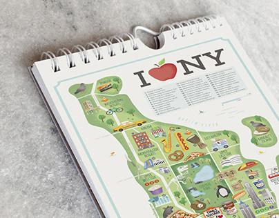 NYC map calendar