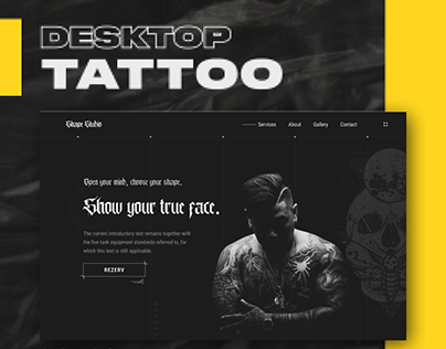 Tattoo studio concept UI