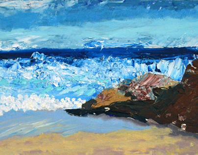 Series of paintings of the sea