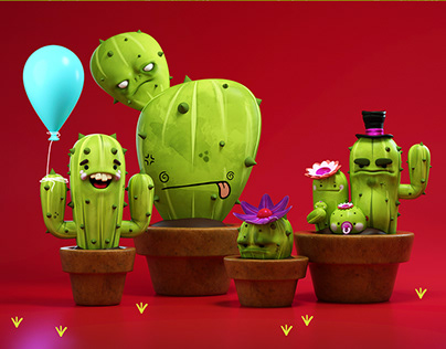 A kind of cactus friends