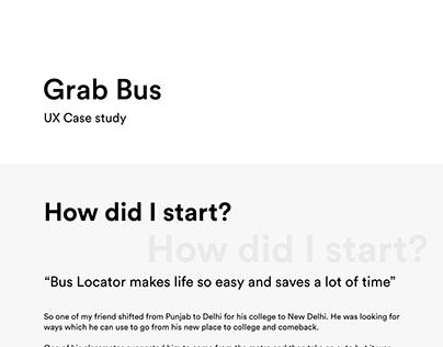 UX Case Study: Grab Bus